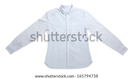 Male shirt isolated on white