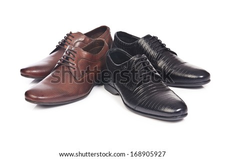 Male shoes isolated on the white