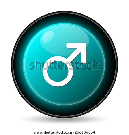 Male sign icon. Internet button on white background.  - stock photo