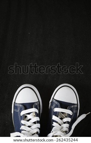 Male sneakers on the back background - stock photo
