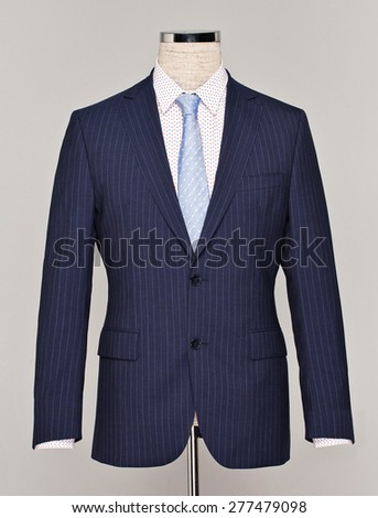 Male suit isolated on the white - stock photo