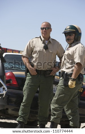 Male traffic officers - stock photo