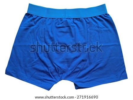 Male underwear isolated on the white background. Clipping path included. - stock photo