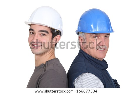 male workmates - stock photo