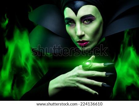 Maleficent demonic - starring  - stock photo
