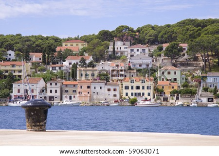 Mali losinj island in croatia on a beautyful day