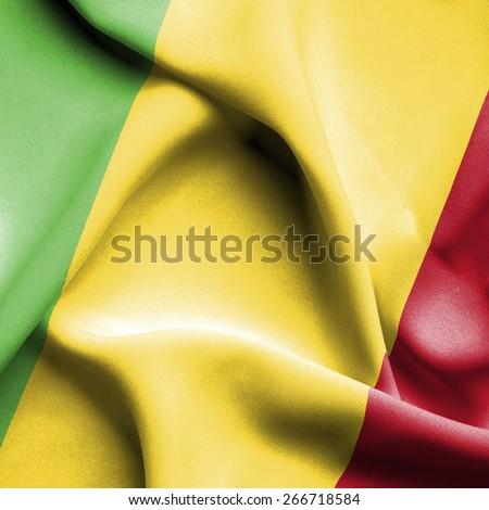 Mali waving flag - stock photo