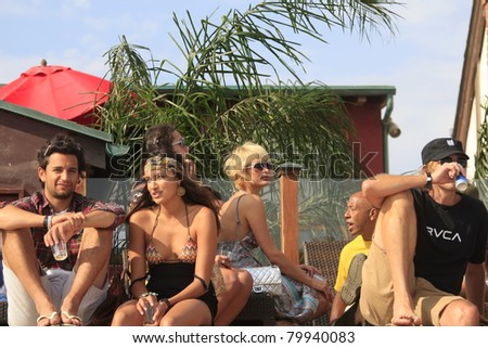 MALIBU, CA - AUG 26: Paris Hilton at a party at the LG House on the beach in Malibu, California on August 26, 2007