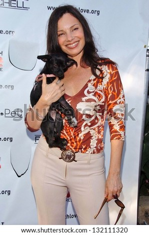 "MALIBU, CA - AUGUST 05: Fran Drescher at ""Bow Wow Ciao"" to Benefit Much Love Animal Rescue on August 05, 2006 at John Paul and Eloise Dejoria Estate in Malibu, CA. - stock photo"