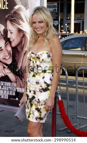 Malin Akerman at the Los Angeles premiere of 'Going The Distance' held at the Grauman's Chinese Theater in Hollywood on August 23, 2010.  - stock photo