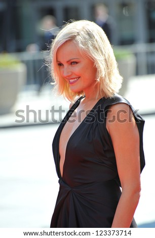Malin Akerman at the 2012 Primetime Creative Emmy Awards at the Nokia Theatre, LA Live. September 15, 2012  Los Angeles, CA Picture: Paul Smith - stock photo
