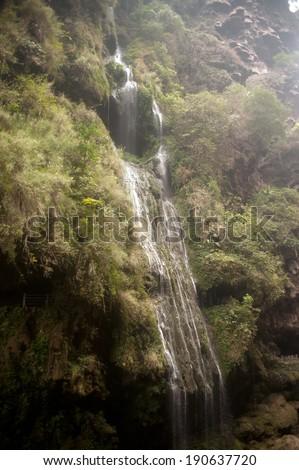 Malinghe waterfall in Xingyi city,Guizhou province in Southwestern of China. - stock photo