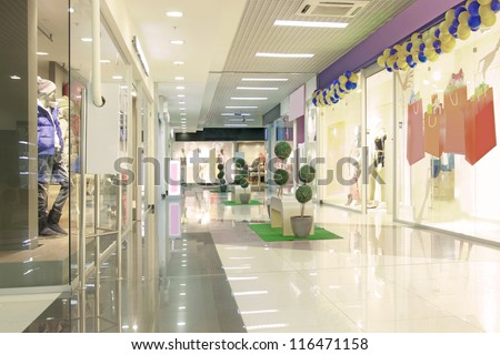 mall interior - stock photo