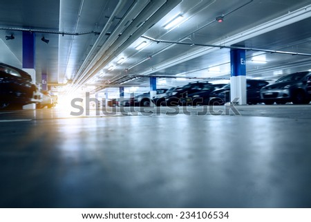 Mall of the underground garage, that Sydney city - stock photo