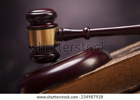Mallet of justice! - stock photo