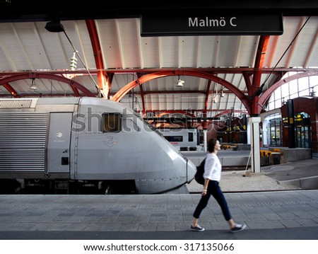 MALMO SWEDEN FRIDAY AUGUST 21 2015 Stock Photo Royalty Free