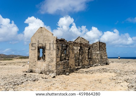 Malmok - old lighthouse - Washington Slagbaai National Park -Views around the Caribbean Island of Bonaire in the ABC Islands