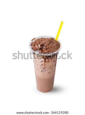 Malt beverage on a white background. - stock photo