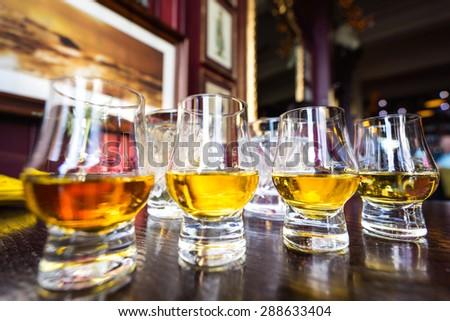 Malt Whisky glass   - stock photo