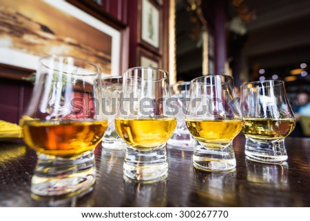 Malt Whisky glass - stock photo