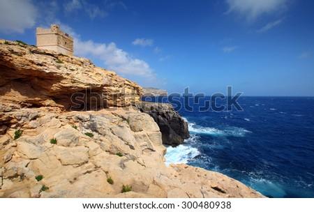 Malta - rocky coast  - stock photo