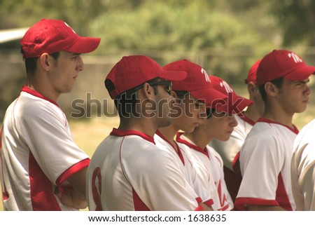 Malta under-21 baseball team listening to orders from coach close-up
