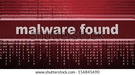 malware. computer virus warning sign - stock photo