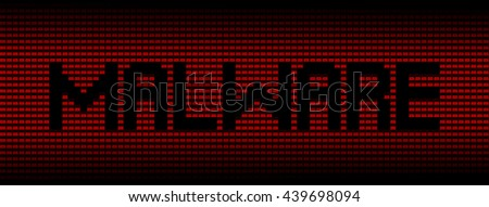 Malware text on red laptops background illustration