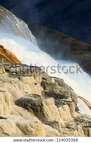 mammoth hot springs area in Yellowstone National Park