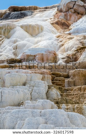 Mammoth Hot Springs in Yellowstone National Park, Wyoming, USA