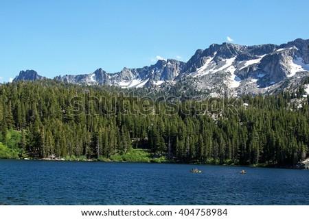 Mammoth Lakes in California's Sierra Nevada Mountains - stock photo