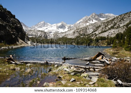 Mammoth Lakes - Little Lakes Trail - stock photo