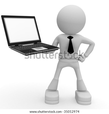 man and computer