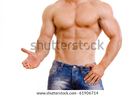 man and tablet - stock photo