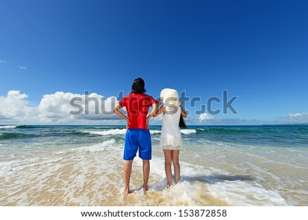 Man and woman enjoy the sun