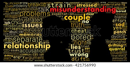 Man and woman in disagreement - stock photo