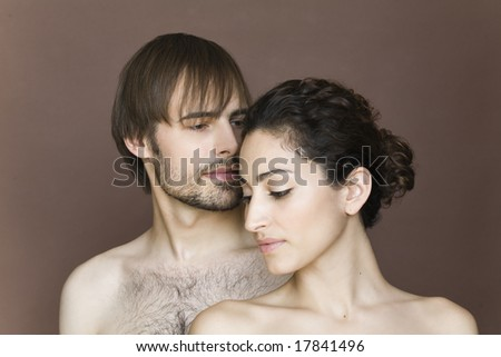 Man and woman in studio