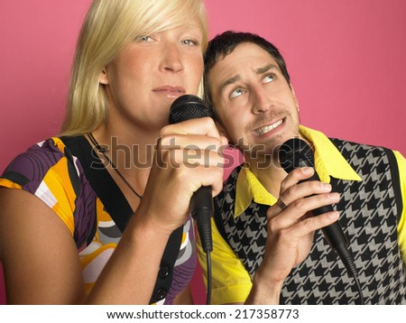 Man and woman singing