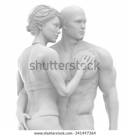 MAn and woman togehteher in love - stock photo