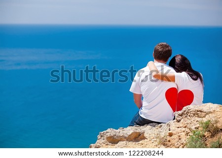 Man and woman together in love - stock photo