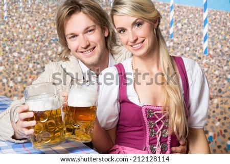 Man and Woman with beer