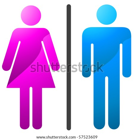 Man and women icon-enter. Vector version available in my gallery. - stock photo