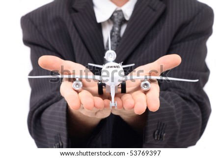 man as airlines manager - stock photo