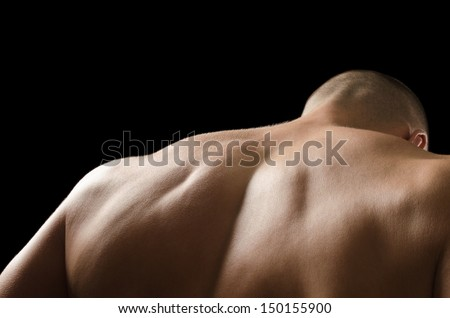 Man back - stock photo