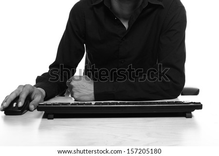 Man behind his desk