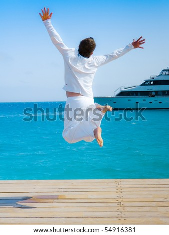 Man Born by the wind - stock photo