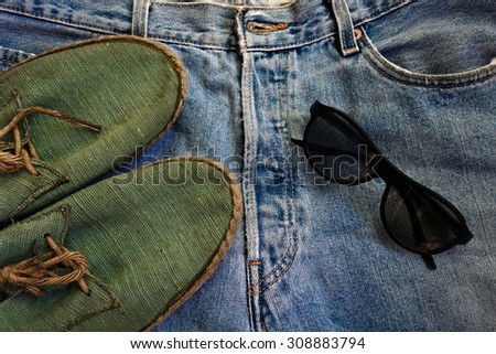 Man casual and accessories - stock photo