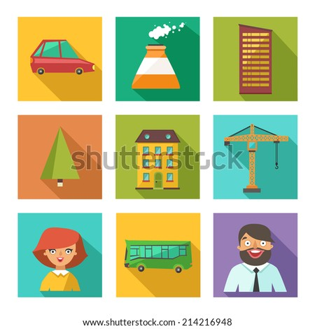 Man character in flat style on colorful background, smart man with advice on school desk, funny teacher - stock photo