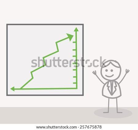 Man Chart Up - stock photo