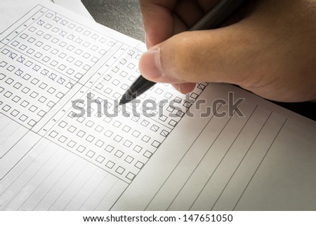 Man checking a document paper